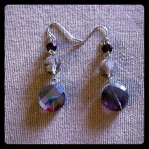 Charming Charlie's Purple beaded dangle Earrings